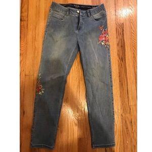 Rafaella floral printed denim jeans